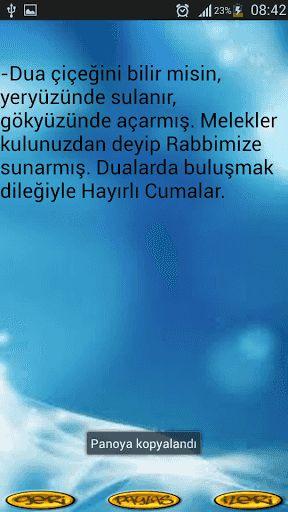 CUMA GÜNÜ SEVDİKLERİNİZE MASAJ YOLLAMAK İSTER MİSİN. BİRBİRİNDEN FARKLI ONLARCA MESAJLARLA SEVDİKLERİNİZİN CUMASINI KUTLAYIN<p>Diğer uygulamalarımızla telefonunuza yükleyerek ulu önderimiz Atatürk'ün sözleriyle bilgilenecek ve atamızla gurur duyacak, Türk şair, romancı, deneme yazarı, gazeteci ve eleştirmen olan Atilla İlhanla düşüncelere dalacak,  gazeteciliği ve romanlarıyla dikkat çeken Can Dündar sözlerini öğrenecek, ve bunlar gibi nice yazar düşünür bilge lider kişilerin ( Can Yücel…