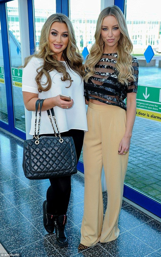 Reunited: Lauren stopped to pose for pictures with former castmate Lauren Goodger at the s...