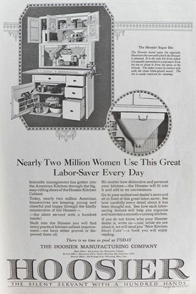 1920 Hoosier Cabinet Ad ~ Labor Saver