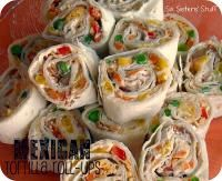 Six Sisters Mexican Tortilla Wrap Roll-Ups are easy to make and taste amazing! Great appetizer for your holiday party or the big football game! #sixsistersstuff