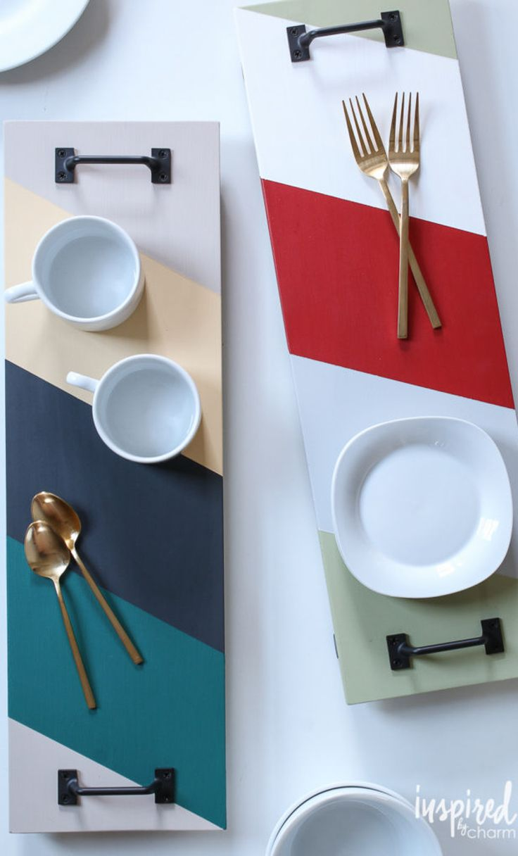 DIY Colorful Modern Serving Tray | Best of 2016: DIY - Inspired by Charm
