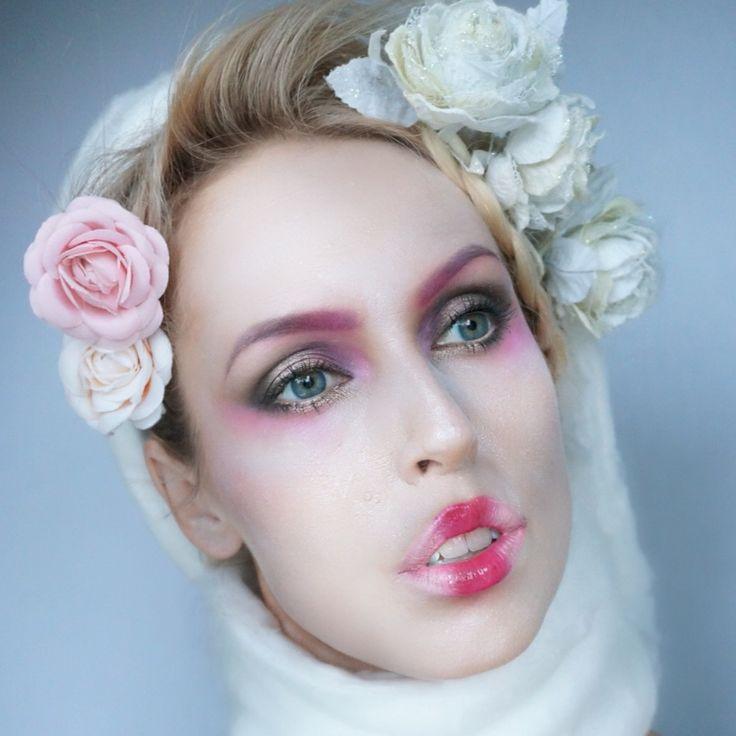 Effie Trinket look, Hunger Games, Make-up