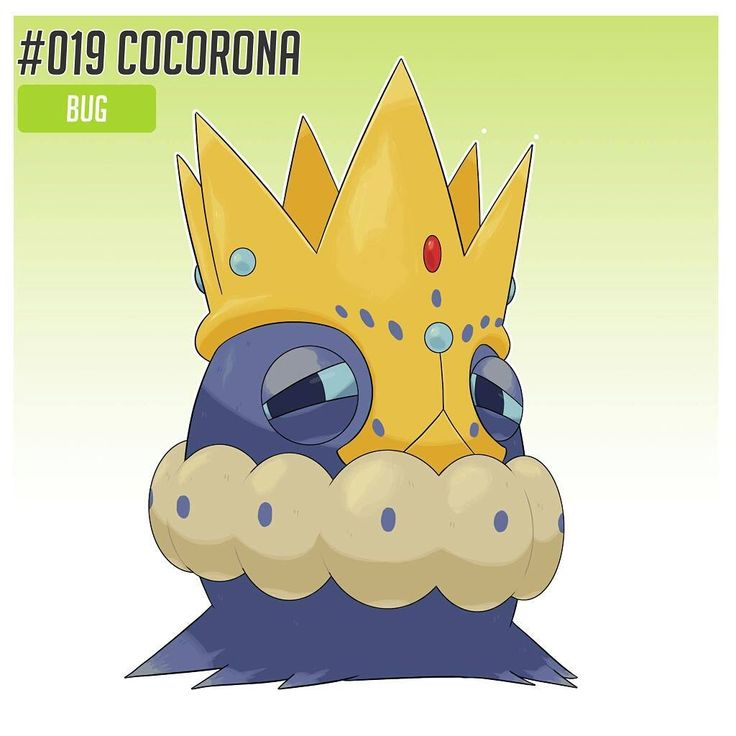 OKAY ! Little break, here's some rework of old (...) Fakemons ! . No. 19 Cocorona  No.20 Royalude  Type: bug/ Steel  Ability : Kingly Majesty  What do U think ? I prefer so far those new ones ! (I let the olds one in the gallery)  Tomorrow comes an other rework ! . #fakemon #pokemon #bug #steel #majesty #rework #break #fakedex #europan