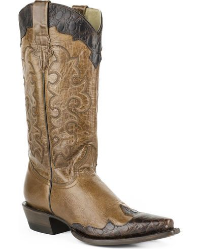 Roper Women's Faux Sea Turtle Wingtip Cowgirl Boots - Snip Toe - Country Outfitter