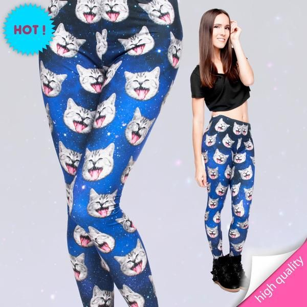 Buy these awesome cat leggings! Galaxy Cat Leggings   space cat leggings  kitty leggings kitten leggings