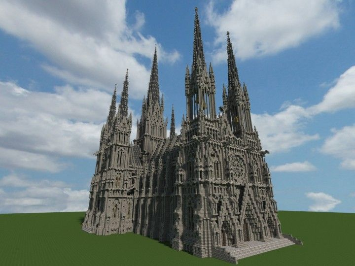 Ideal Cathedral Minecraft Project In 2020 Minecraft Projects Minecraft Construction Minecraft Castle