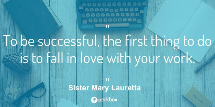 To be successful, the first thing to do is to fall in love with your work. #MondayMotivation #Quote