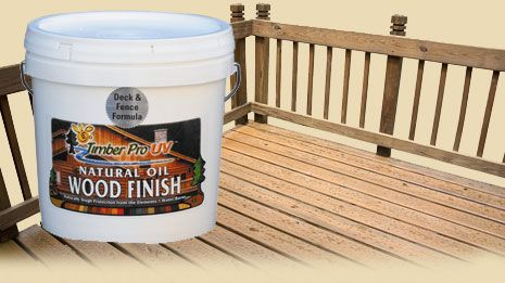 Natural Wood Deck Sealer, Redwood or Cedar Deck Stain or Fence