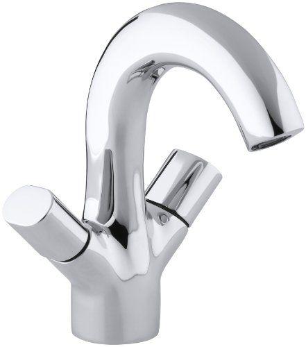 bathroom faucets diy kohler k100859cp oblo twohandle monoblock lavatory faucet polished chrome click - Kohler Waschbecken Armaturen