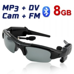 MF010 8GB 5-IN-1 DV + Camera + MP3 Player + FM Radio + Bluetooth Sunglasses