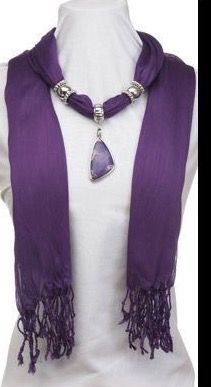 Beautiful scarf neckclace. Just a pic for inspiration.