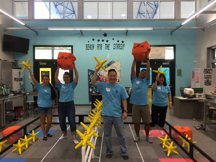 Capacitors: The cylindrical or circle-shaped capacitors are storage modules that release their charge when the electricity in a circuit drops. Pictured: Team Hawaiian Electric at the Hawaii State Middle School VEX Championships.