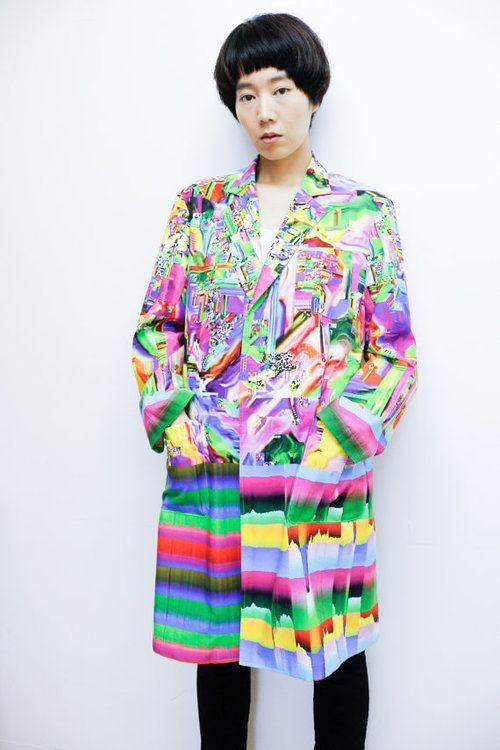 Coat by Nukeme and Uncv Japanese glitch fashion creator Nukeme...