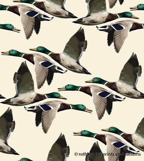 flying ducks wallpaper