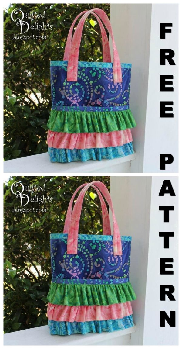 Download This FREE Pdf Pattern For The Ruffled Pocket Tote Bag Inspiration Free Bag Patterns To Download Pdf