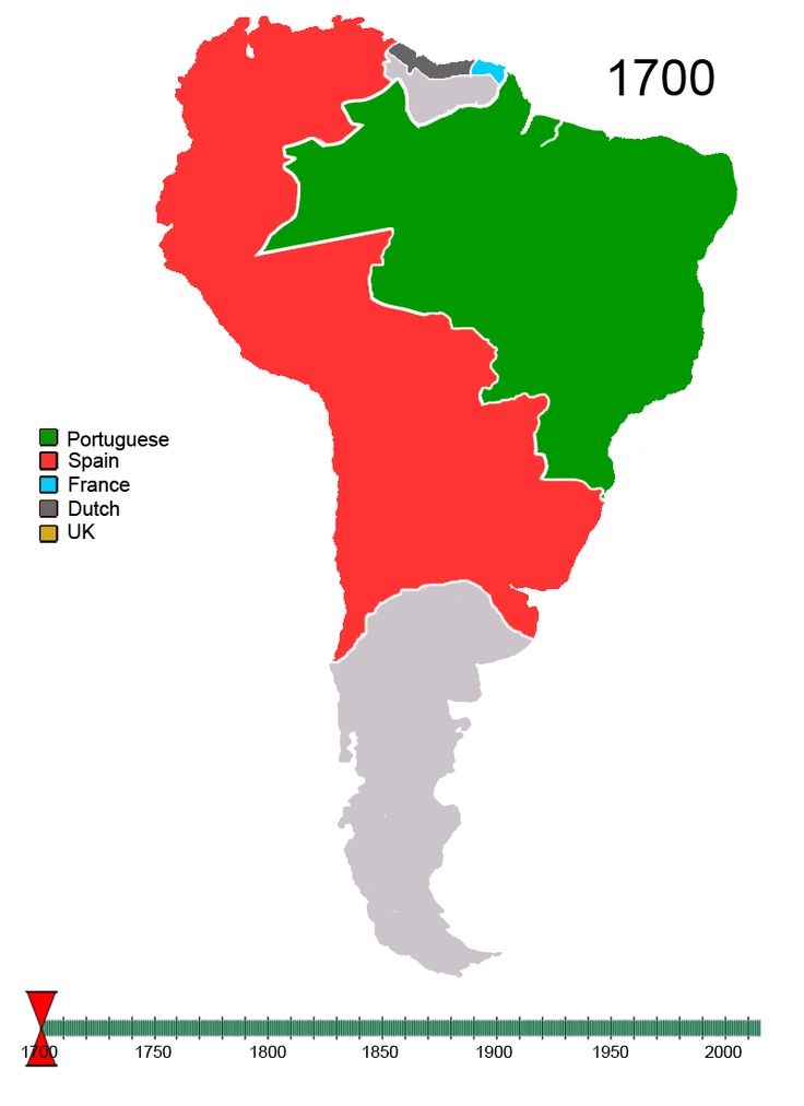 EN UN GIF: Así han cambiado las fronteras en América del sur desde 1600!!