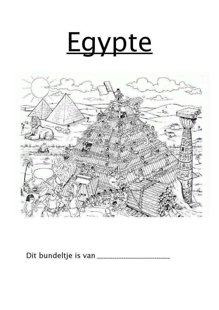 Werkbundel voor het 5de leerjaar voor het werken rond Egypte