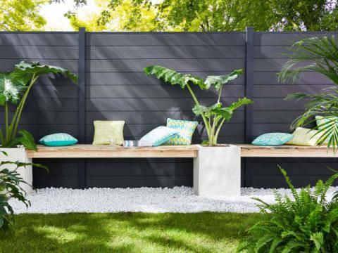 50 best belles clôtures images on Pinterest Backyard ideas, Brick - palissade en pvc jardin