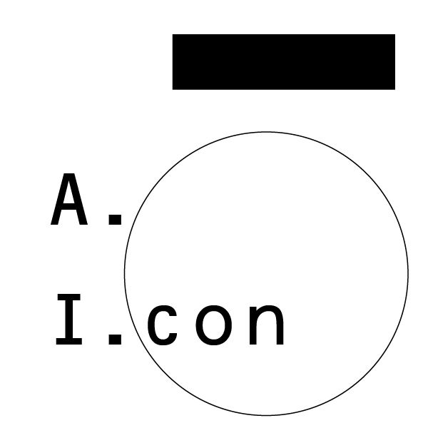 Logo design for personal curated collection: A. I.con.   - #logo #mark #symbol #logo #logotype #graphics #identity #brandlogo #branding #brandidentity #type #typography #font #design #designer #graphicdesign #applogo #icon #appicon #avatar #instagramlogo