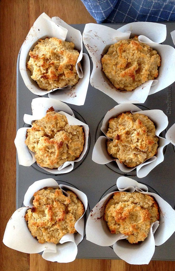 Triple Coconut Muffins (grain/dairy-free, paleo) #GrokGrub