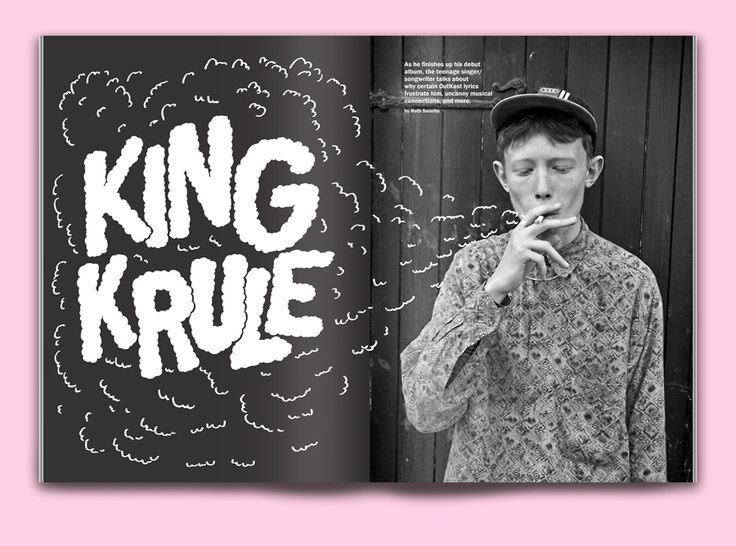 Lettering for an editorial spread on King Krule by Brian Aloha: