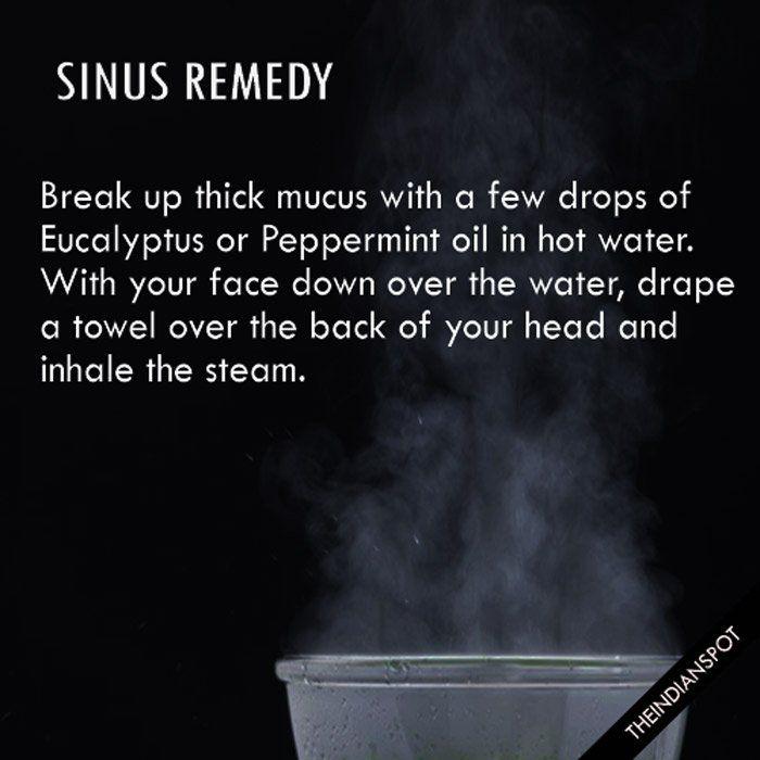 5 Effective Natural Remedies For Sinus Relief - STEAM INHALATION