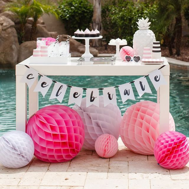 Dessert Tablescape Flamingo Party