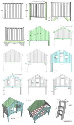 Free plan for a DIY loft bed/playhouse! Looks like it would be very easy to customize, neat alternative to the traditional bunk bed for sure. #diybunkbed #loftbed #kidsroom