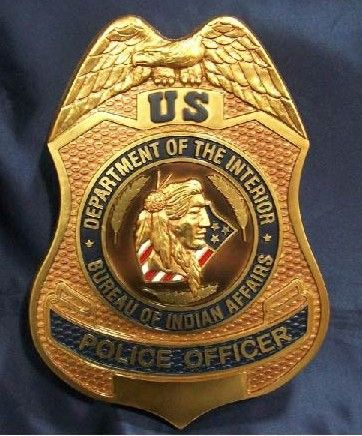 72 best fed police images on pinterest police badges police and firefighters - Interior bureau of indian affairs ...
