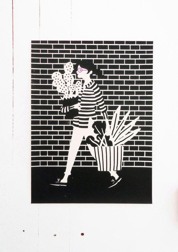 Cactus print by Karolin Schnoor.