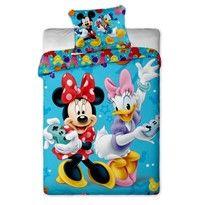 Obrázek Dětské bavlněné povlečení Mickey a Minnie games, 140 x 200 cm, 70 x 90 cm