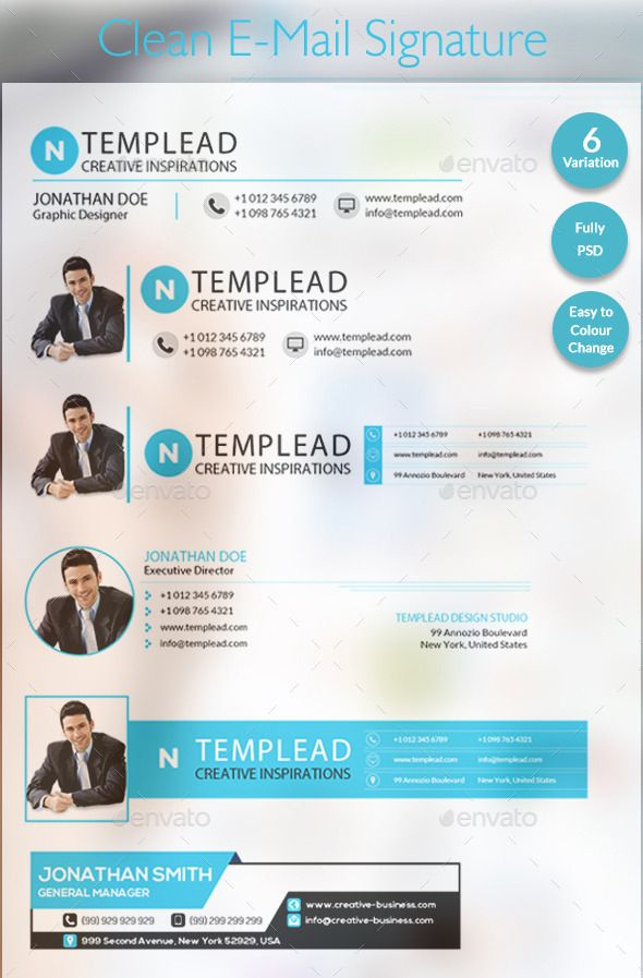 E-Signatures - Modern E-mail Signature Templates | GraphicRiver