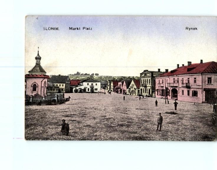 Slonim Marketplace, antique postcard (ebay.de)