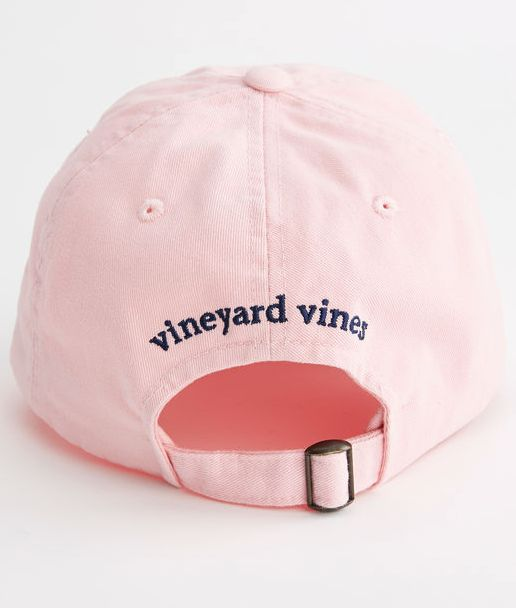 Vineyard Vines Whale Logo Baseball Hat - Flamingo