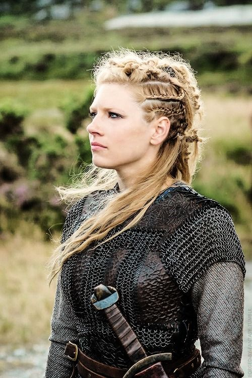 """""""I play Lagertha, a real shield maiden that existed in that time period in the 8th century and doing my research on it there's very little information out there. But Michael Hirst [""""Vikings"""" Creator] who wrote the show gave us as much information as we can on how women were portrayed in that society— Katheryn Winnick x"""