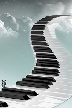 """Follow the piano keys ~ """"The music is not in the notes, but in the silence in between."""" ~Wolfgang Amadeus Mozart"""