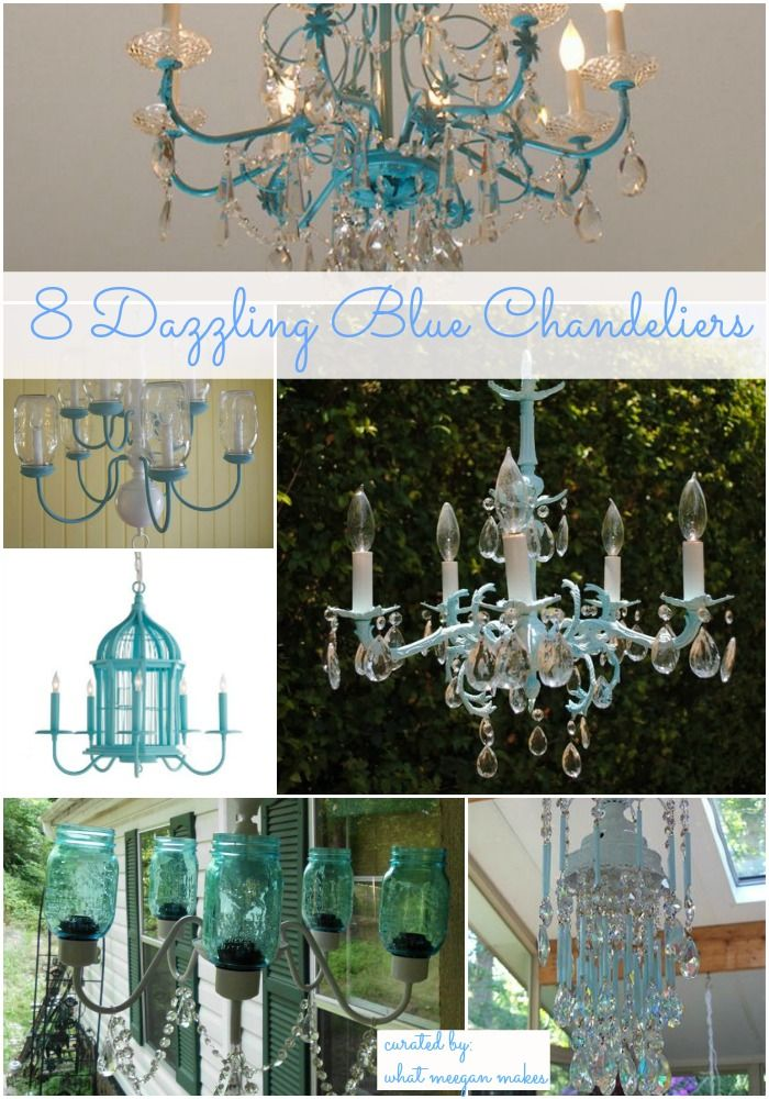 I've got the Monday Blues with 8 Dazzling Blue Chandeliers