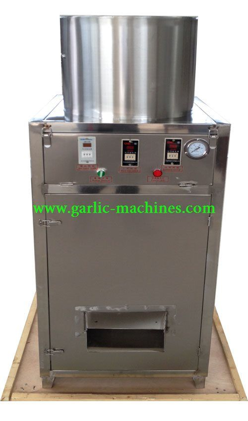 NewFarmer Garlic Peeler Machine NF150,it's output capacity is 150kg/h,and the peeling rate is more than 98%,The garlic peeler machine is made of stainless steel,it is very strong and can use very long time.