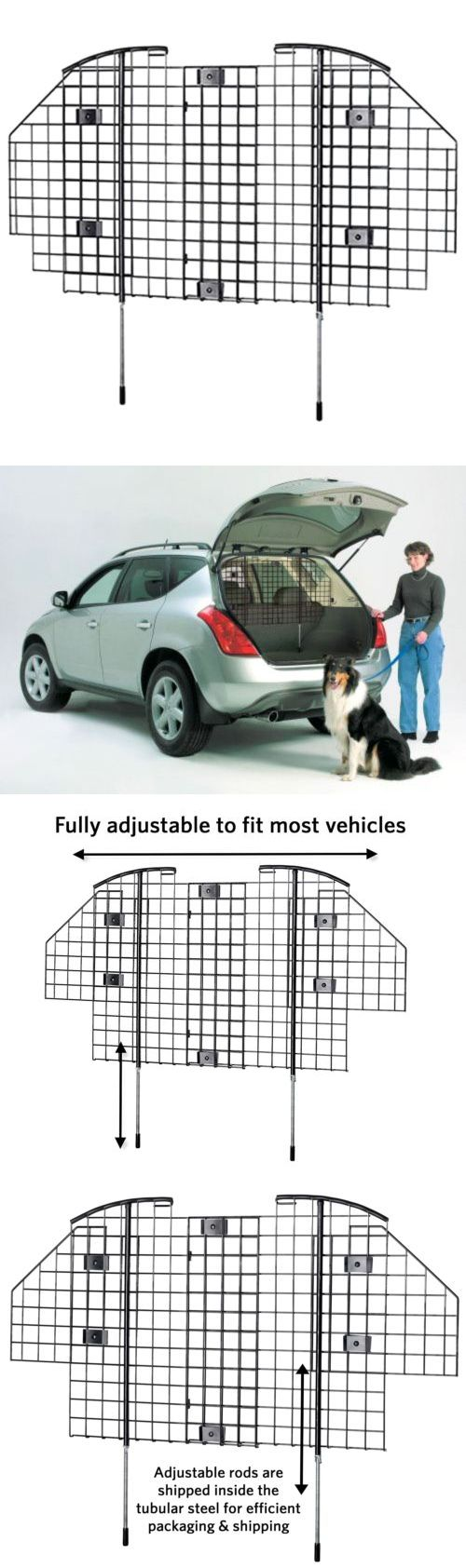 Car Seats and Barriers 46454: Dog Barrier For Suv Restraint For Car Van Vehicle Gate Universal Pet Cage Travel BUY IT NOW ONLY: $57.93