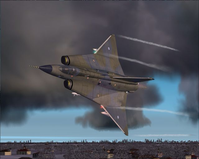 Saab Draken - Probably Danish, this color scheme has not been used here in Sweden to the best of my knowledge.