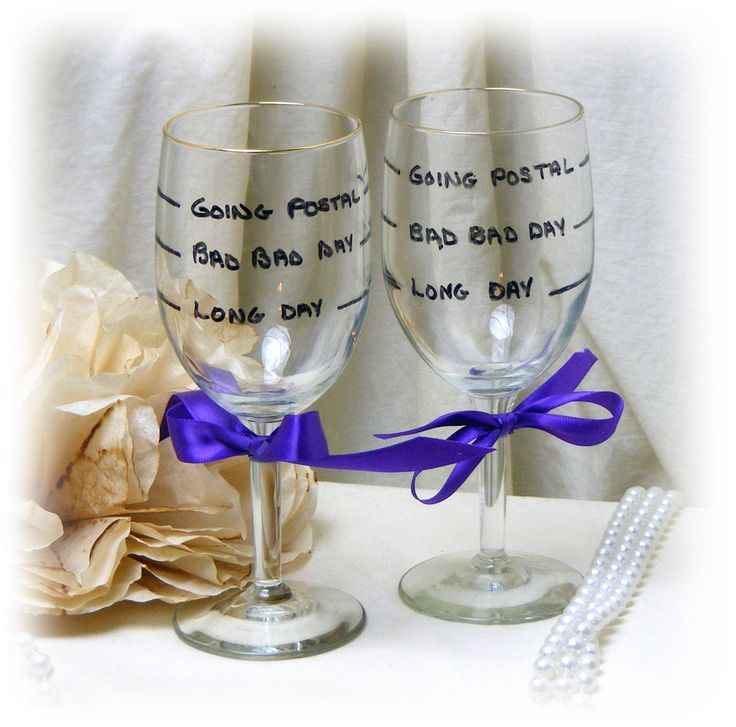 JOKE WINE GLASSES . . .  funny gag gift by TheCraftBlossom on Etsy