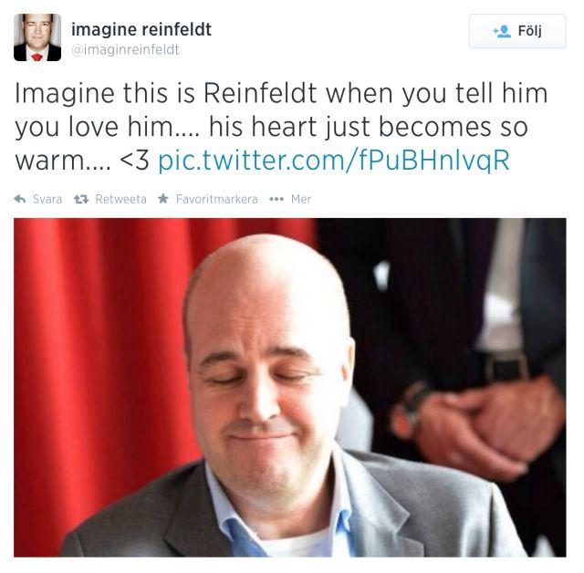 18 bilder på hur det skulle se ut om Reinfeldt var din pojkvän