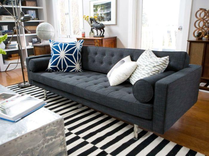 Die besten 25+ Schwarz weiße streifen Ideen auf Pinterest - wohnzimmer ideen streifen