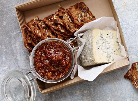 Fig and bacon jam with cheese