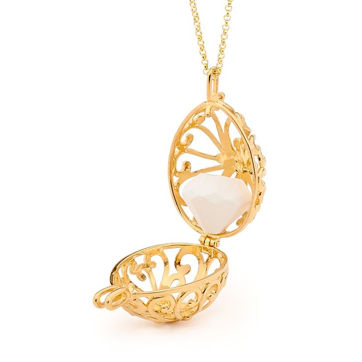 Tranquility - Yellow Gold with Jewelstone