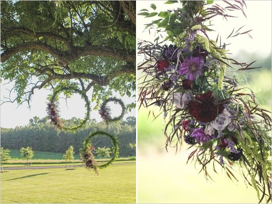 ceremony backdrop - unity circles.  #ceremonydecor #ceremony #wedding