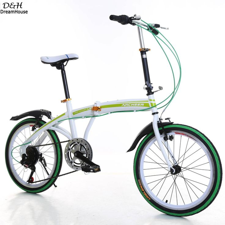 Ancheer 20 inch Portable Folding Bike 6-Speed Road Bicycle Cycling Adult Ladies Bicycles Green