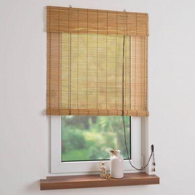 Seitenzugrollo Bambus Liedeco Lichtschutz Verschraubt
