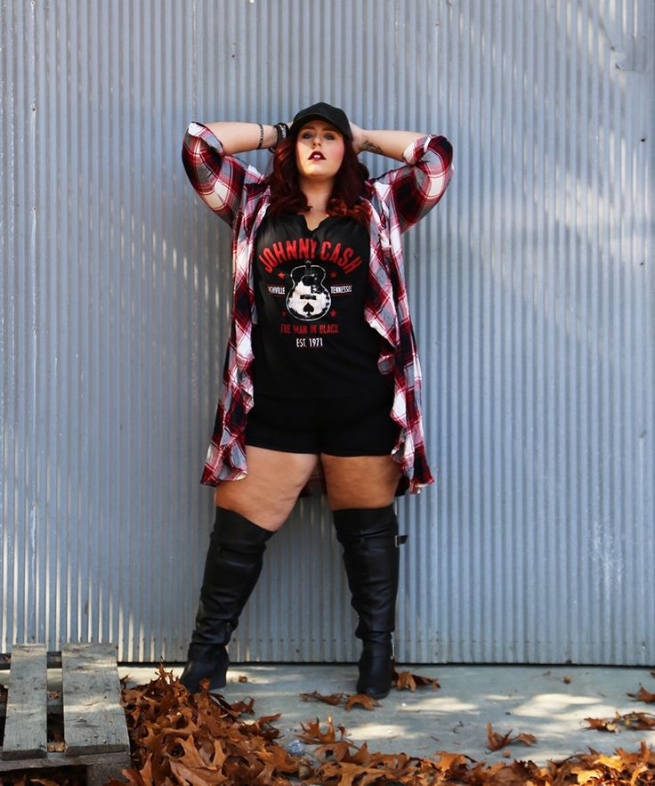 Going Mad for Plaid by Plus size blogger Curves, Curls and Clothes.