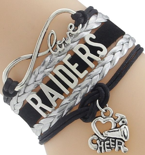 Infinity Love Raiders Football Team Bracelet NFL Customize Oakland Sport wristband friendship Bracelets